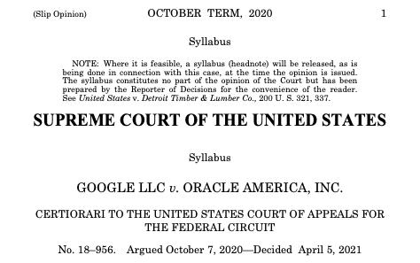 Java著作権訴訟でGoogleがオラクルに勝訴